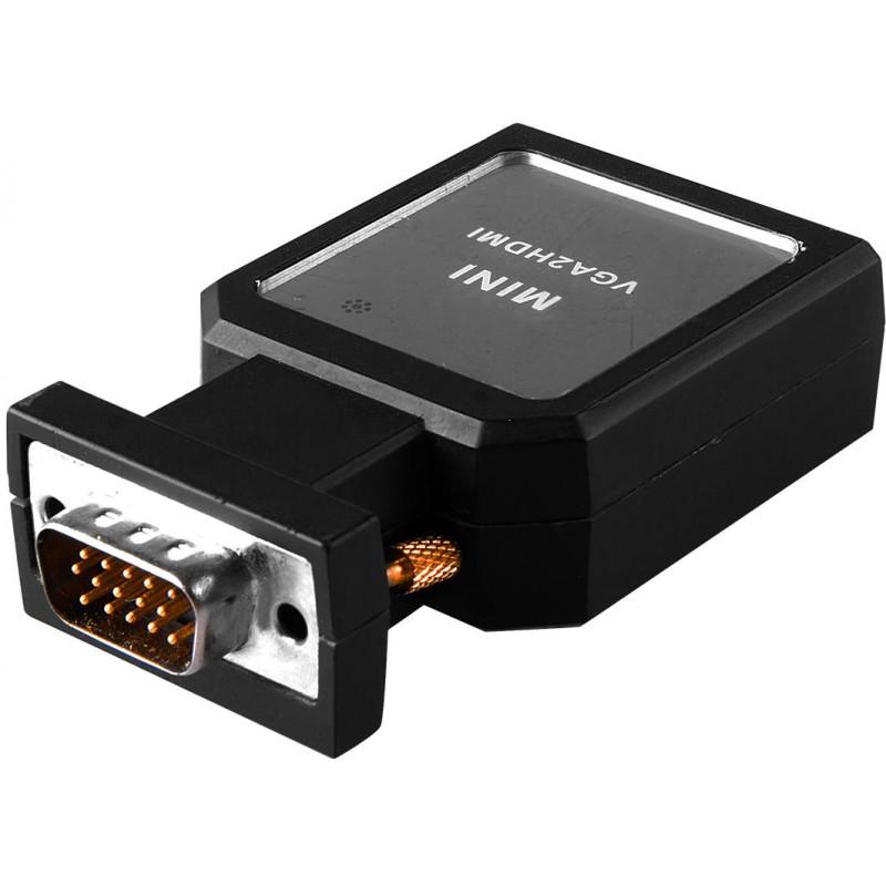 Mini Convertitore attivo da VGA+Audio ad HDMI