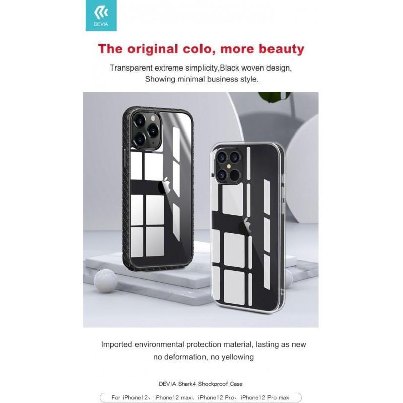 Cover protettiva trasparente con bordo per iPhone 12 Mini