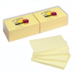 Foglietti MEMOIDEA 127x75 mm giallo pastello - 12 blocchetti