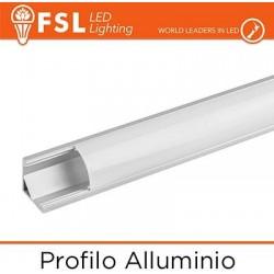 Profilo Alluminio 6063 - Angolare Pieghevole - 2 metri