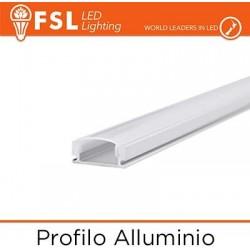 Profilo Alluminio 6063 - U - Barra 2 metri