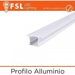 Profilo Alluminio 6063 - ad Incasso - Barra 2 metri