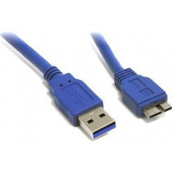 Cavo USB 3.0 1m A-Male to Micro B-Male (Blue)