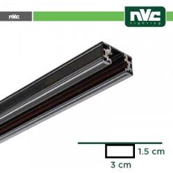 Binario Monofase - Lunghezza 1,5 Metro / Colore Nero