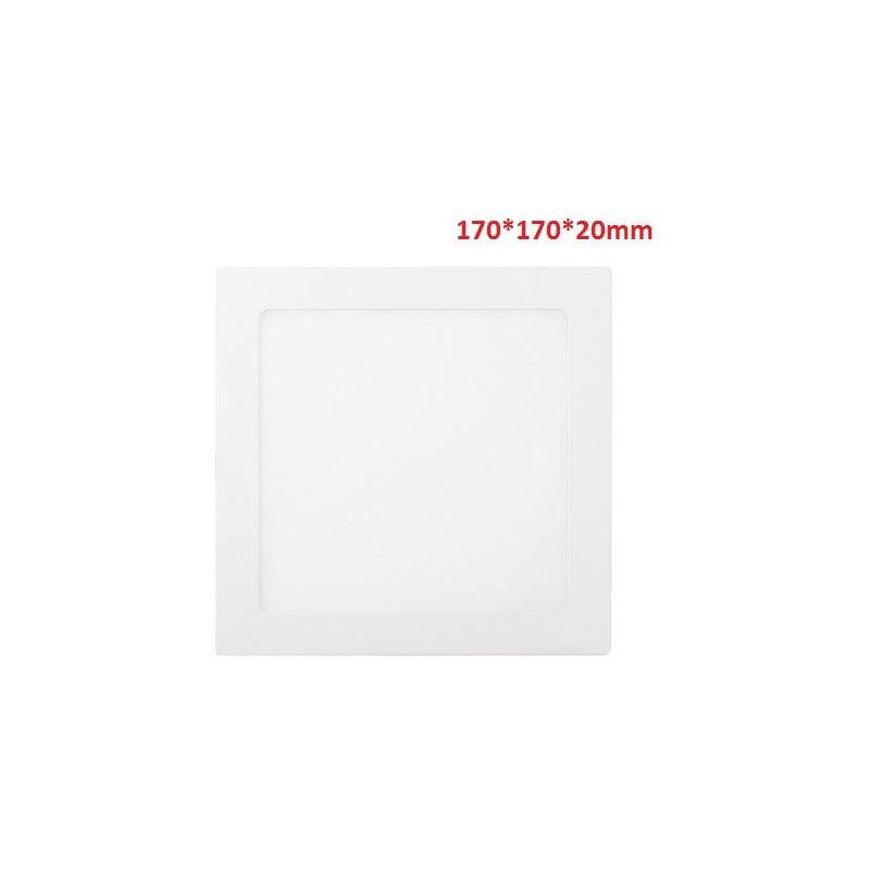 12W-850LM-4000K120º-170*170*20mm/155*155mm-AC90-265V
