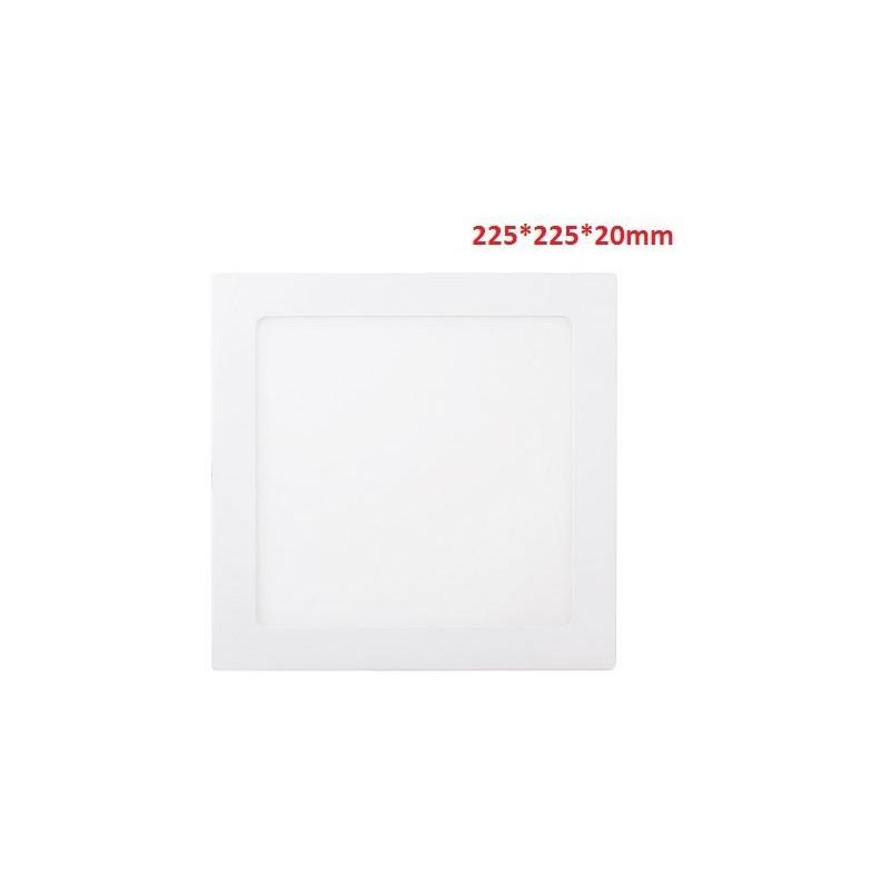 18W-1300LM-4000K120º-225*225*20mm/205*205mm-AC90-265V