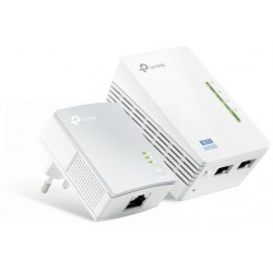 Kit 2 powerline WiFi 2.4 GHz AV600 2+1 porte LAN TL-WPA4220