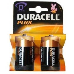 2 pile Duracell PLUS MN1300 torcia 2x 1,5v LR20 - blister