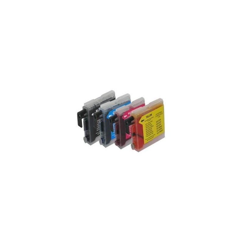 28ML Brother Comp LC51 LC970 LC1000 Magente Alta Capacit