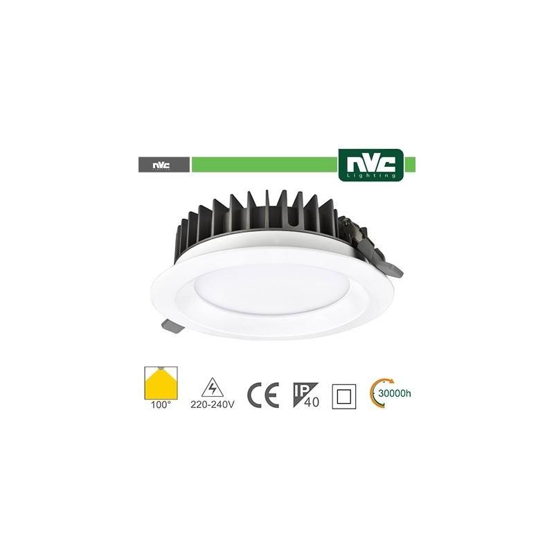 Downlight LED IP40 15W 3000K 1125LM 100º FORO:125mm