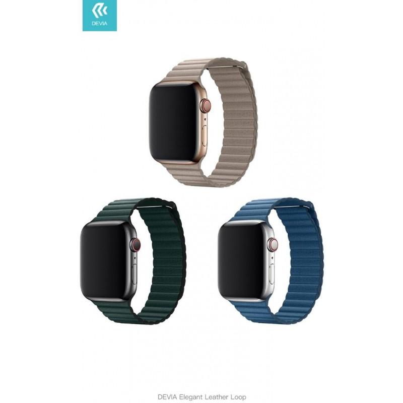 Cinturino Apple Watch 4 serie 44mm Elegant Leather Cape Cod