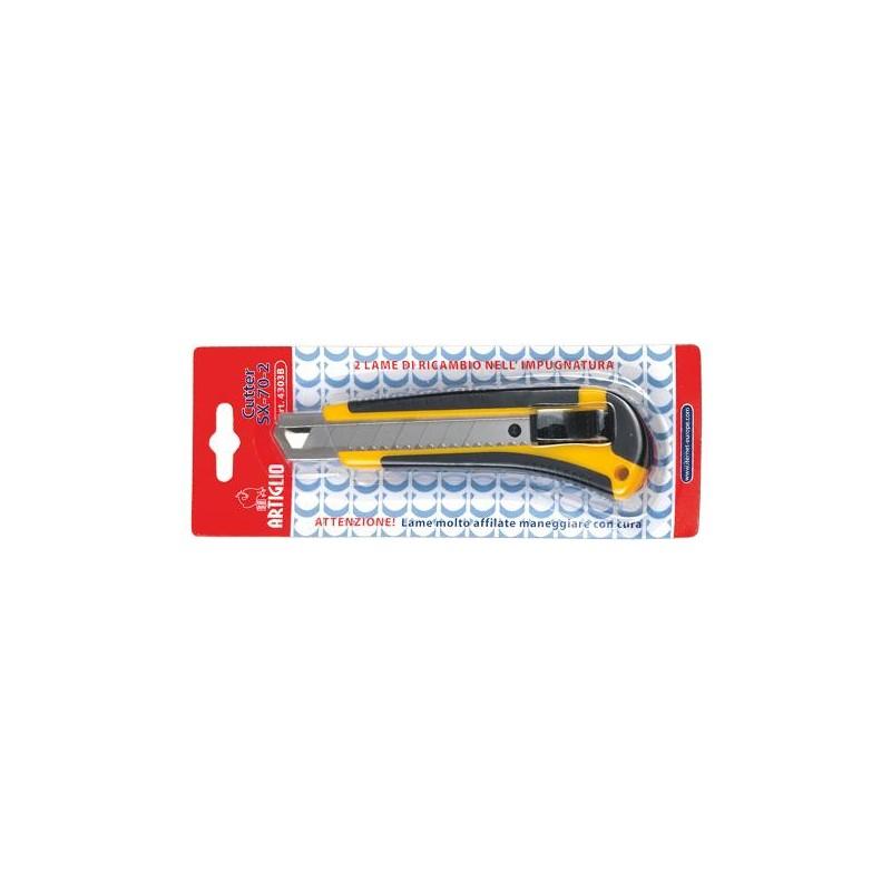 Cutter SX-70-2 impugnatura ABS e gomma - guida in acciaio