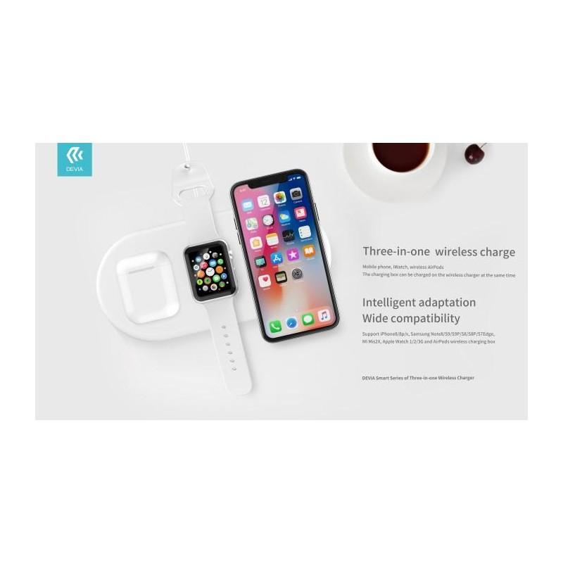 Caricatore Wireless Smartphone Apple Watch e Airpod 18W