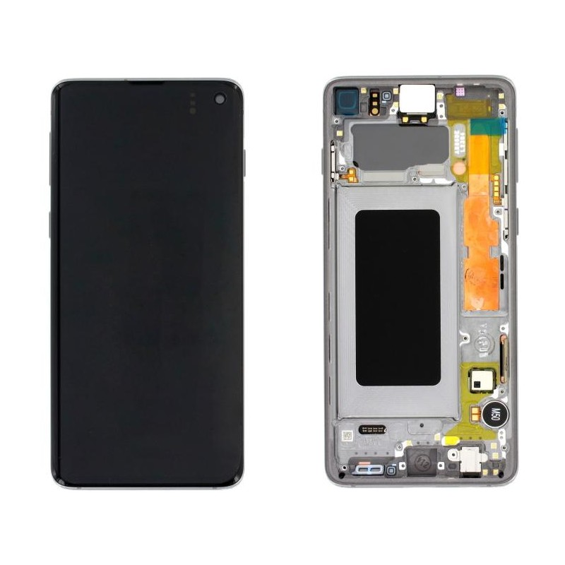 LCD display Touch Samsung G973 Galaxy S10 GH82-18850G Silver