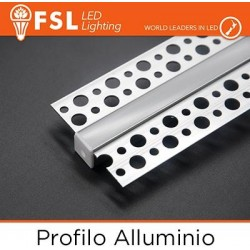 Profilo Alluminio 6063 - Raso - 2 metri