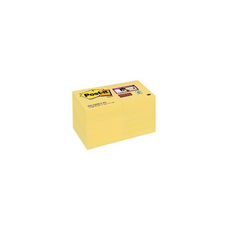 Post-it® Super Sticky Notes Giallo Canary™ - 51x51 mm - 12pz